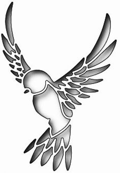 Stencil ideas for jewelry making Bird Stencil, Stencil Art, Craft Stencils, Tattoo Stencils, Stencil Patterns, Stencil Designs, Pvc Pipe Crafts, Paper Birds, Wood Burning Patterns