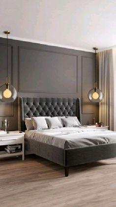 Master Bedroom Interior, Modern Master Bedroom, Modern Bedroom Design, Master Bedroom Design, Home Decor Bedroom, Bedroom Furniture, Bedroom Ideas, Bedroom Accent Walls, Modern Luxury Bedroom