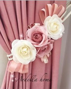 1 million+ Stunning Free Images to Use Anywhere Elegant Curtains, Shabby Chic Curtains, Beautiful Curtains, Home Curtains, Curtains With Blinds, Curtain Holder, Curtain Tie Backs, Felt Flowers, Paper Flowers