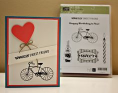 Wheely Sweet friend - Cycly Celebration Stampin Up stamp set. Card created by Pauline Kolochuk - SU Demonstrator in Calgary, Alberta, Canada.