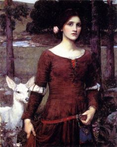 "John William Waterhouse, ""The Lady Clare"""