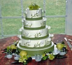 wedding cake green - Google Search