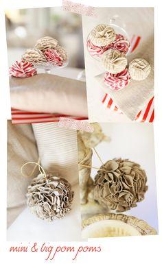 Sweet as a Candy: DIY: Fabric Pom poms