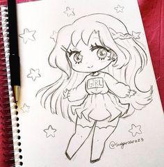 Anime Drawings Sketches, Anime Sketch, Kawaii Drawings, Cartoon Drawings, Cartoon Art, Anime Chibi, Anime Art, Cartoon Girl Images, Anime Character Drawing