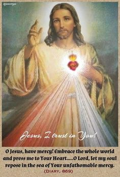 Image of Divine Mercy, celebrated on the Sunday after Easter.