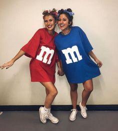 Cute Group Halloween Costumes, Trendy Halloween, Bff Costume Ideas, Group Costumes, Cheap Costume Ideas, Halloween College, Simple Costumes, M&m Halloween Costume Diy, Bestfriend Costume Ideas