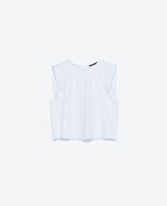 Image 6 of TOP WITH BACK PLEAT from Zara