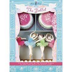 Meri Meri Ballerina Muffin Kit Formen und Deko nicht nur für Ballerina Geburtstage toll! Bonuspunkte sammeln, Kauf auf Rechnung, DHL Blitzlieferung!