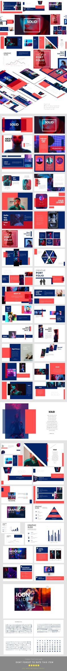 multipurpose creative template powerpoint — powerpoint ppt, Graphicriver Folio Powerpoint Presentation Template, Presentation templates