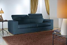 #Divano moderno Torino - Colore azzurro - Produzione Santambrogio Salotti - #Seveso