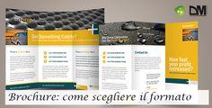Scegliere il formato della brochure aziendale può essere complicato. In genere, però, basta affidarsi ai formati standard a sestino e a quartino.
