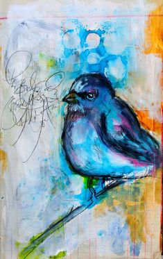 I want to learn how to paint little birds like Dina Wakely!