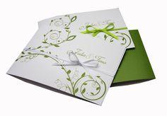 """Einladungskarte+Hochzeit+""""grün+weiß""""+von+moments-events+auf+DaWanda.com"""