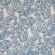 Paisley Fabric, Paisley Pattern, Blue Fabric, Paisley Print, Paisley Design, Drapery Fabric, Fabric Decor, Fabric Design, Fabric Patterns