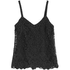 Polo Ralph Lauren Lace Cotton Top ($180) ❤ liked on Polyvore featuring tops, black, lacy tops, lace top and polo ralph lauren