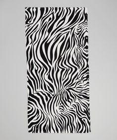 Look what I found on #zulily! Black & White Zebra Beach Towel by Island Gear #zulilyfinds