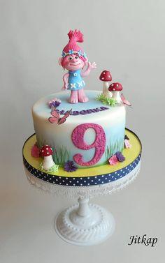 Trolls - Poppy cake by Jitkap