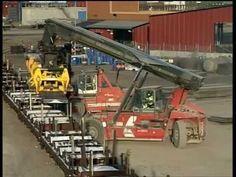 Kalmar DCD forklift truck handling steel