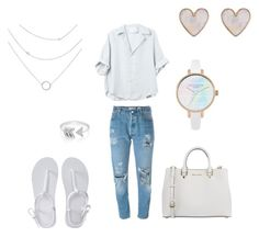 """""""White"""" by ferponm on Polyvore featuring Levi's, Aéropostale, MICHAEL Michael Kors, EF Collection and New Look"""