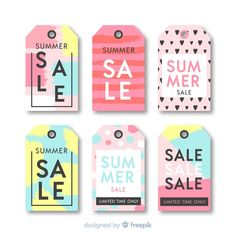 Software, Summer Sale, Vector Free, Author, Color, Collection, Design, Tags, Ice Cream