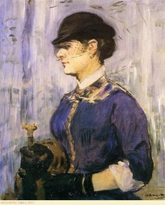 Edouard Manet - Young Woman In A Round Hat .