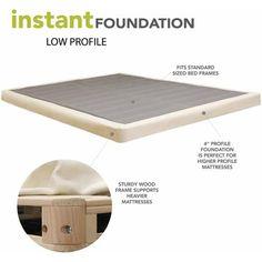 modern sleep 4 low profile mattress foundation box spring multiple sizes argyle interior. Black Bedroom Furniture Sets. Home Design Ideas