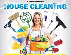 Residential Cleaning Flyer Template  Customizable Colorful And
