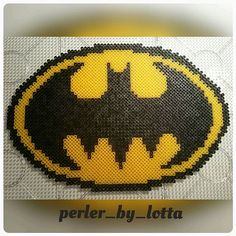 Batman logo perler beads by perler_by_lotta