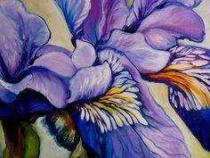 """""""Louisiana Wild Iris (detail)"""" par Marcia Baldwin"""