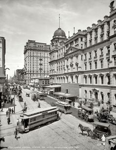 Grand Central Station and Hotel Manhattan, New York, 1903. Been there an wow how different it looks now!