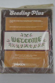 "#Paragon #Beading #Plus #1053 #""Welcome"" #Embroidery #Kit  #ParagonNeedlecraft"