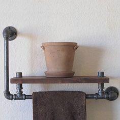industriellen Stil Regal Bücherregal Regal industriellen Rohr Sanitär retro, die alten Rack Regal Handtuchhalter-Z39 zu tun 2016 - €73.49