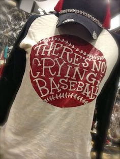 There's No Crying in Baseball Burnout - pink mens shirts store, blue shirts for mens, blue and white shirt mens *ad