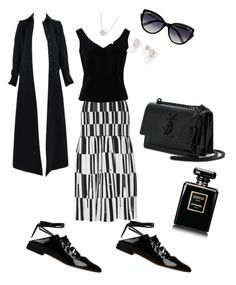 """""""Untitled #133"""" by vmaras82 on Polyvore featuring Proenza Schouler, ADAM, Givenchy, Yves Saint Laurent, Chanel, Chan Luu, La Perla and Alaïa"""