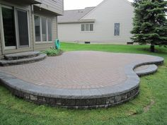 Elevated Brick Pavers Patio is Restored, Redesigned, and Upgraded from ground up to its original beauty Recently in Ann Arbor, my crew and … - All About Garden Concrete Patio Designs, Backyard Patio Designs, Patio Ideas, Pavers Ideas, Arbor Ideas, Pool Ideas, Outdoor Ideas, Backyard Ideas, Outdoor Spaces