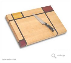 cutting board | Mondrian 2 decorative wood cutting board artisan made.