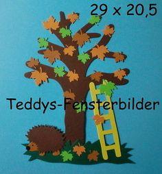 Teddys Fensterbilder 562 ´  Baum mit Blättern ` Tonkarton