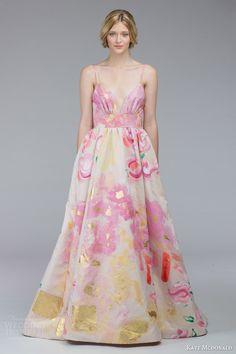 Kate McDonald Fall 2015 Wedding Dresses | #Wedding Inspirasi  #bridal #weddings #weddinggown #weddingdress #multicolor