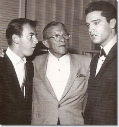 Elvis Presley, George Burns and Bobby Darin : Sahara Hotel : July 26, 1960.