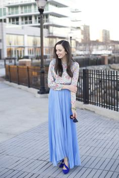 Pleated Maxi Skirt By The Glam Files