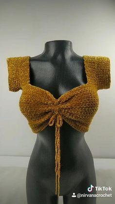 Crochet Bikini Pattern, Crochet Crop Top, Crochet Doll Tutorial, Diy Crochet, Fashion Sewing, Crochet Fashion, Crochet Designs, Crochet Patterns, Easy Crochet Stitches