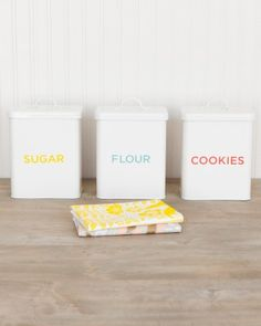 Vintage style food storage containers by Martha Stewart for Macy's. Great prices.