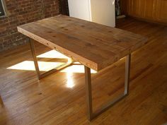 New custom made table, we have the wood, we've choosed the finish, now I just need to find the perfect legs!
