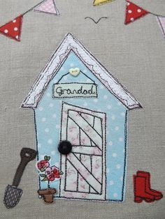 Beautiful stitched card. Great idea for a male friend or relation's birthday or for Fathers Day who is a keen gardener or alternatively tweet it into a beach hut!
