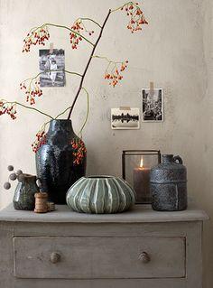 casa vivante, tijdloos en strak vormgegeven vazen vormen een mooi sfeerhoekje