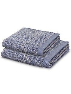 Tweed towel range in Blue