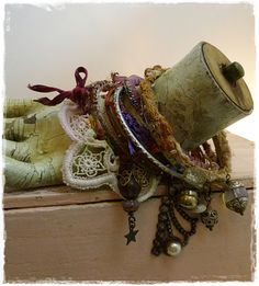 Priscilla Moore makes post apocalyptic neo victorian jewelry on etsy... $80