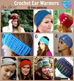 Crochet Ear Warmer Patterns - 10 Free Crochet Patterns to choose from. #crochet #freepatterns