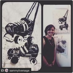 #Repost @sammyliversage with @repostapp.  My beautiful #mixedmedia #artwork that I won on auction from the secretly talented Molly Murder. #silentauction #skatelife #rollerderby #rollerskates #cmaxrollerderby #skates #johannesburg #joburgallstars #southafrica by cmaxrollerderby