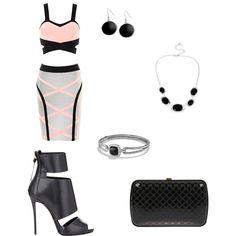 Sexy date night by keischa-pruden on Polyvore featuring polyvore fashion style Giuseppe Zanotti Gucci David Yurman Robert Lee Morris Karen Kane